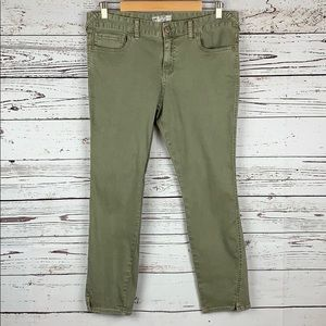 Free People Green Ankle Jeans